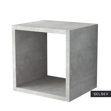 Italia Cube Floating Shelf Concrete Grey