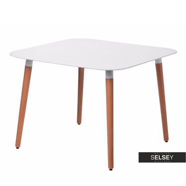 Copine White Dining Table 100x100 cm