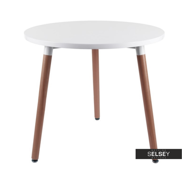 Copine White Round Dining Table 80 cm