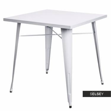Paris White Metal Table 76x76 cm