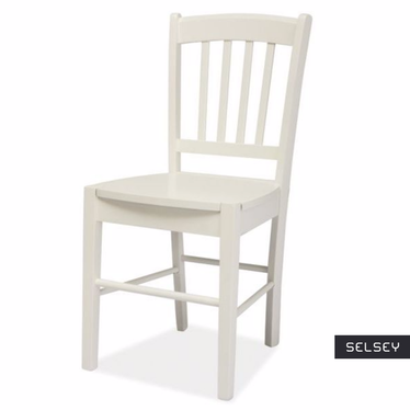 Bergen White Wooden Chair