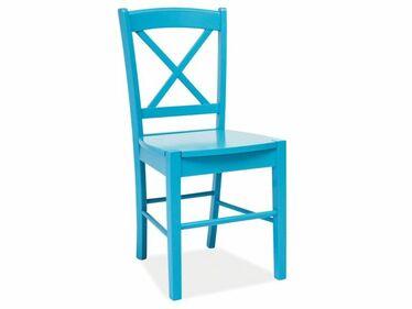 Svene Wooden Blue Dining Chair in Farmhouse Style