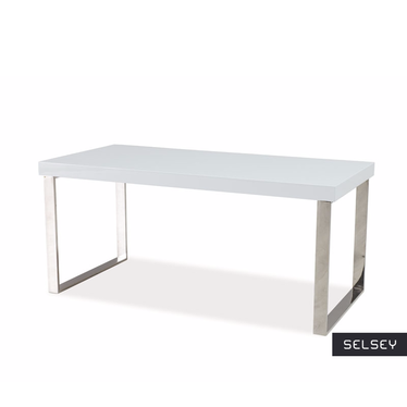 Vicenza White Coffee Table on Metal Legs