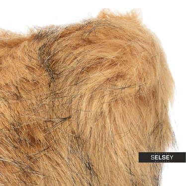 Furry Dark Blonde Cushion 45x45 cm