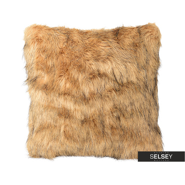 Furry Dark Blonde Cushion 45x45 cm