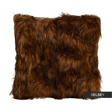 Furry Brown Cushion 45x45 cm