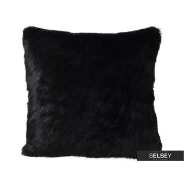 Furry Black Cushion 45x45 cm