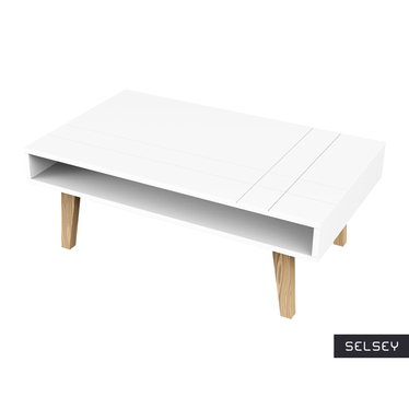 Galena Scandinavian Bench with Shelf