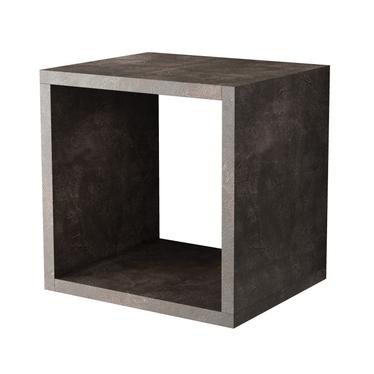 Italia Cube Floating Shelf Basalt