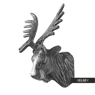 Elk Head Nickel Wall Decor 20 cm