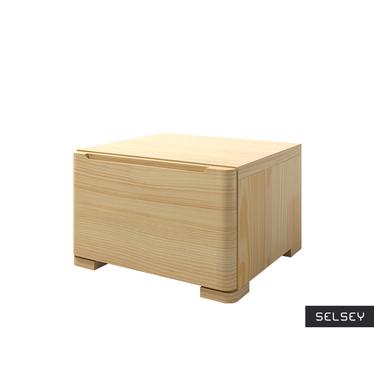 Lopar Low Bedside Cabinet Pine Wood