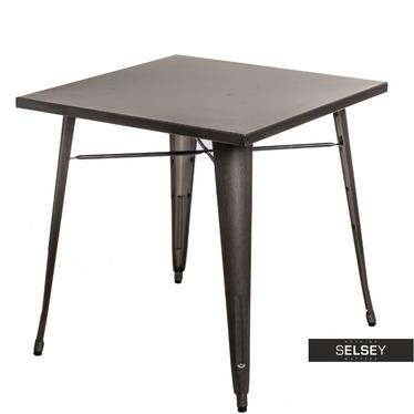 Paris Chrome Metal Table 76x76 cm