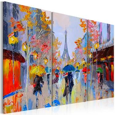RAIN IN PARIS - Hand-painted Artwork