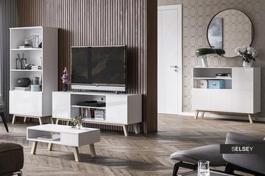 Verozia Lignnum White TV Stand 150 cm