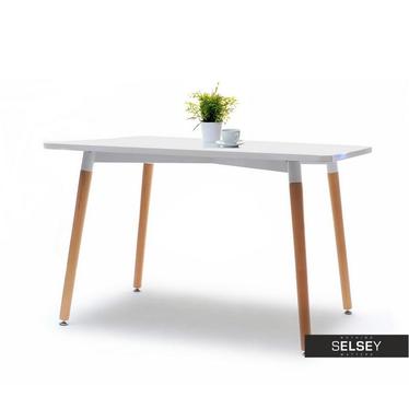 Smart White Scandinavian Dining Table 120x80 cm