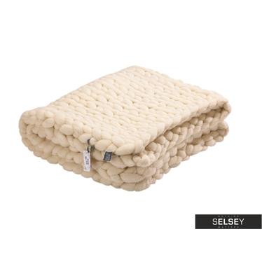 Merino Ecru Worsted Wool Blanket