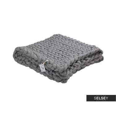 Merino Grey Worsted Wool Blanket
