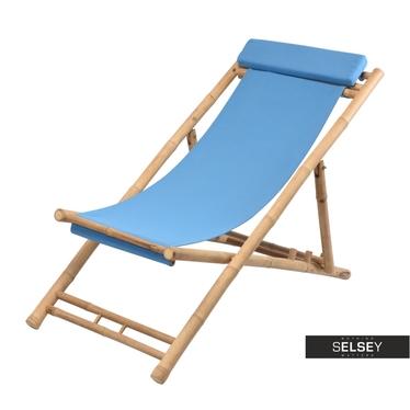 Bamboo Garden Deckchair Blue