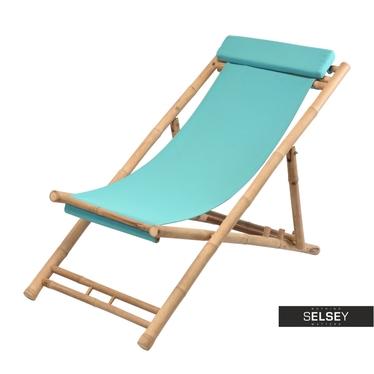 Bamboo Garden Deckchair Turquoise