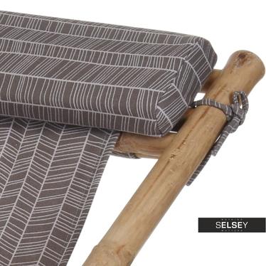 Bamboo Garden Deckchair Herringbone
