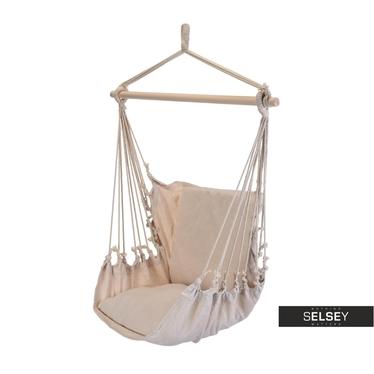 Boho Beige Hammock Chair