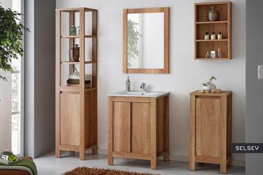 Francisco Oak Bathroom Vanity Unit 60 cm