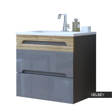Warner Grey Floating Vanity Unit 60 cm