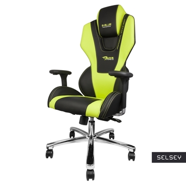 E-Blue Mazer Black and Green Gaming Chair