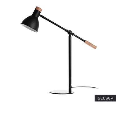 Woody Black Table Lamp