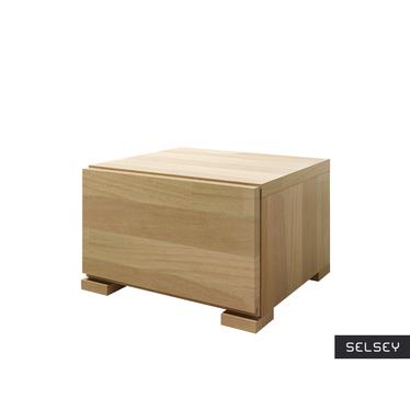 Loke Low Bedside Cabinet Beech Wood