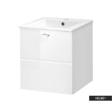 Marbella White Bathroom Vanity Unit 40 cm