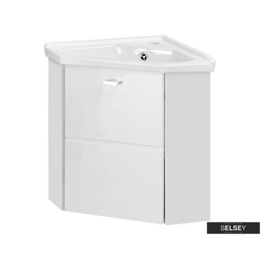 Marbella White Corner Vanity Unit 40 cm