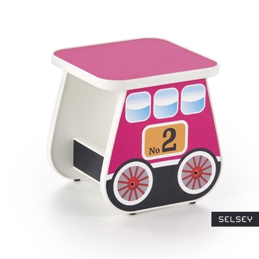 Luna Pink Stool for Kids