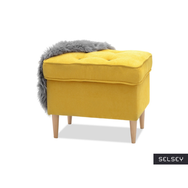 Malmo Decorative Yellow Footstool