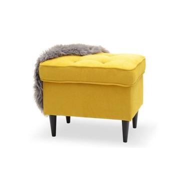 Malmo Footstool Black and Yellow