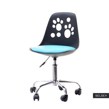 Foot Swivel Chair for Kids Black and Blue