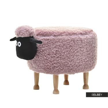 Sheep Pink Plush Seat for Kids