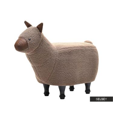 Lama Brown Plush Seat for Kids