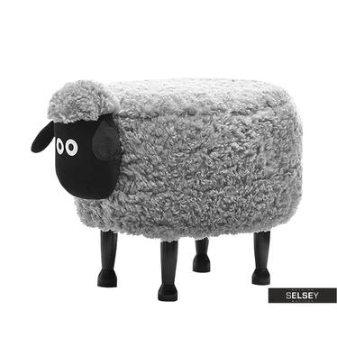 Sheep Grey Plush Seat for Kids