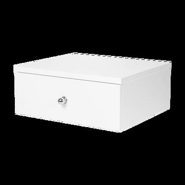 Leonard Floating Bedside Cabinet with Chrome Handle