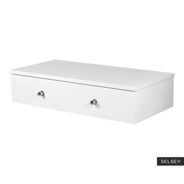 Claudio Floating Dressing Table with Chrome Handles