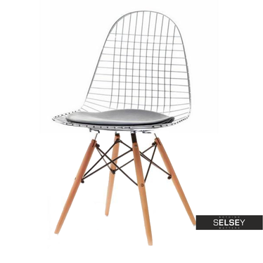 Wood Wire Industrial Dining Chair