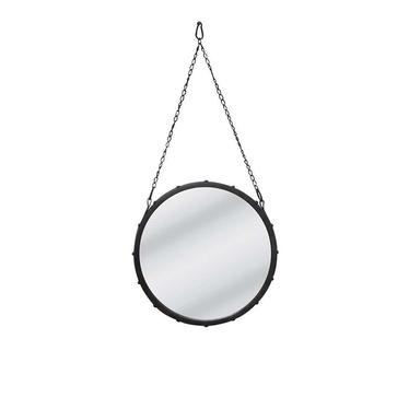 Vessel Mirror with Black Chain Hanger