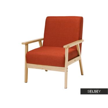 Travis Vintage Coral Armchair