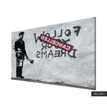 Banksy Follow Your Dreams Cancelled Canvas Print 60x40 cm