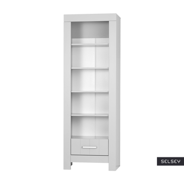 Clamo Grey Bookcase with Drawer