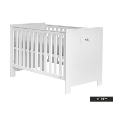 Marseille White Baby Cot Bed 140 x 70 cm