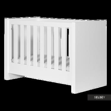 Lara White Cot Bed 120x60 cm