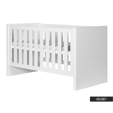 Lara White Cot Bed 140x70 cm
