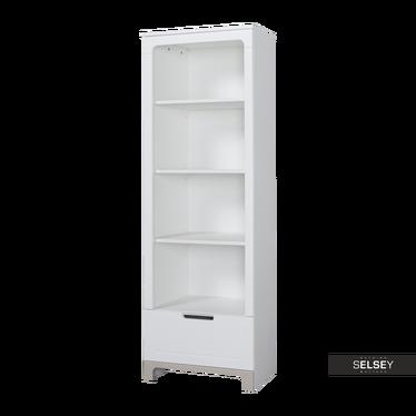 Mini Nursery Bookcase White and Grey